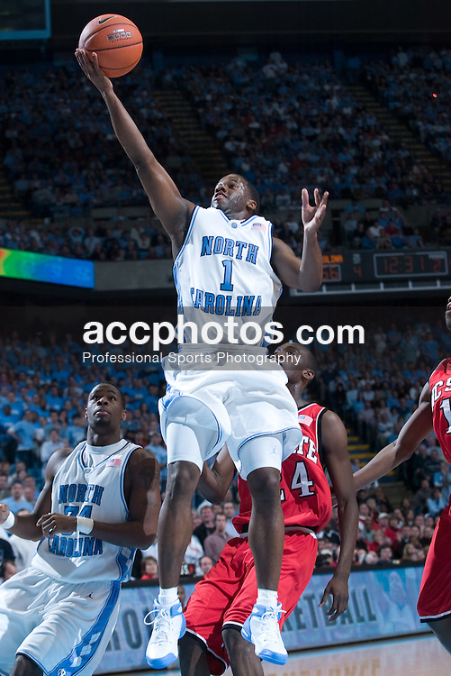 2005 February 03: North Carolina Tar Heels guard Melvin Scott (1) during a 95-71 victory over the North Carolina State Wolfpack in Chapel Hill, NC..