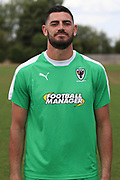 AFC Wimbledon goalkeeper Tom King (1) during the AFC Wimbledon 2018/19 official photocall at the Kings Sports Ground, New Malden, United Kingdom on 31 July 2018. Picture by Matthew Redman.
