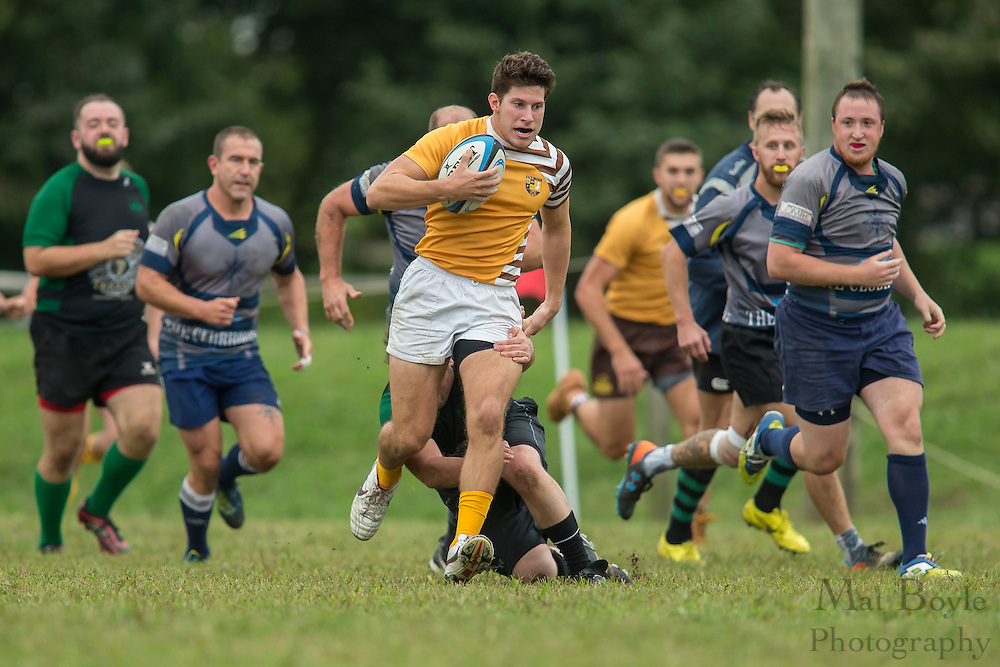 South Jersey & Lehigh Valley  vs. Rowan University Rugby B Side match at Garden State Rotary Complex in Cherry Hill, NJ on Saturday October 1, 2016. (photo / Mat Boyle)