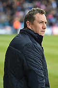 Shrewsbury Town manager Micky Mellon  before the Sky Bet League 1 match between Gillingham and Shrewsbury Town at the MEMS Priestfield Stadium, Gillingham, England on 23 April 2016. Photo by Martin Cole.