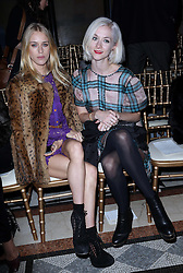 Mary Charteris and Portia Freeman at the Julien Macdonald show at London Fashion Week Autumn/Winter 2014/15, Saturday, 15th February 2014. Picture by Stephen Lock / i-Images