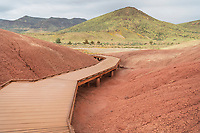 Boardwalk on Painted Cove Trail, Painted Hills Unit of John Day Fossil Beds Natiional Monument Oregon