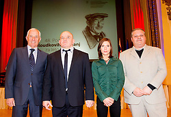 Peter Zupan of Biathlon team, Marjan Fabjan, Mina Markovic and Franjo Izlakar at 48th Annual Awards of Stanko Bloudek for sports achievements in Slovenia in year 2012 on February 12, 2013 in Grand Hotel Union, Ljubljana, Slovenia. (Photo By Vid Ponikvar / Sportida)