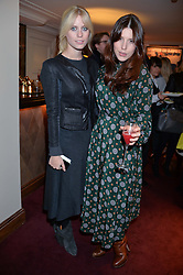 Left to right, VIOLET VESTEY and LILY LEWIS at a party hosted by Lady Kinvara Balfour, Lavinia Brennan and Lady Natasha Rufus Isaacs to celebrate the Beulah French Sole Collaboration in aid of the UN Blue Heart Campaign, held at George, 87-88 Mount Street, London on 10th December 2013.