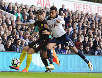Football - 2016 / 2017 Premier League - Tottenham Hotspur vs Manchester City<br /> <br /> John Stones of Man City and Dele Alli of Tottenham  at White Hart Lane<br /> <br /> Credit : Colorsport / Andrew Cowie