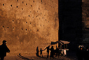 The medieval city walls of Fes, Morocco