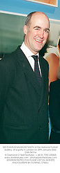 MR CHARLES SAUMAREZ SMITH of the National Portrait Gallery, at a party in London on 29th January 2002.OXA 54 mo