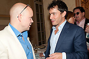 TOBY YOUNG; GILES COREN, Imogen Edwards-Jones - book launch party for ' Hospital Confidential' Mandarin Oriental Hyde Park, 66 Knightsbridge, London, 11 May 2011. <br />  <br /> -DO NOT ARCHIVE-© Copyright Photograph by Dafydd Jones. 248 Clapham Rd. London SW9 0PZ. Tel 0207 820 0771. www.dafjones.com.