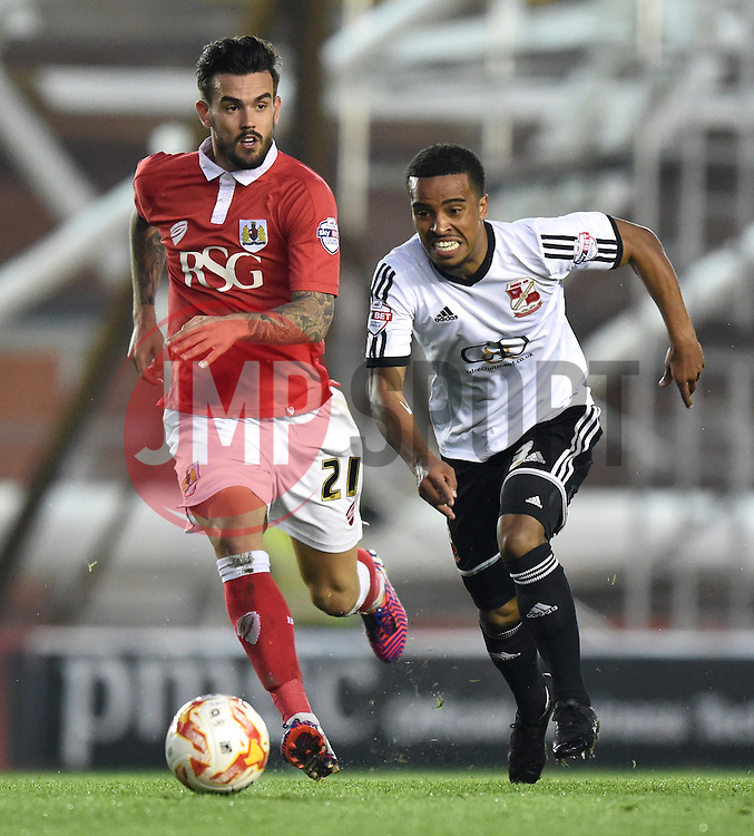 Bristol City's Marlon Pack in action during the Sky Bet League One match between Bristol City and Swindon Town at Ashton Gate on 7 April 2015 in Bristol, England - Photo mandatory by-line: Paul Knight/JMP - Mobile: 07966 386802 - 07/04/2015 - SPORT - Football - Bristol - Ashton Gate Stadium - Bristol City v Swindon Town - Sky Bet League One