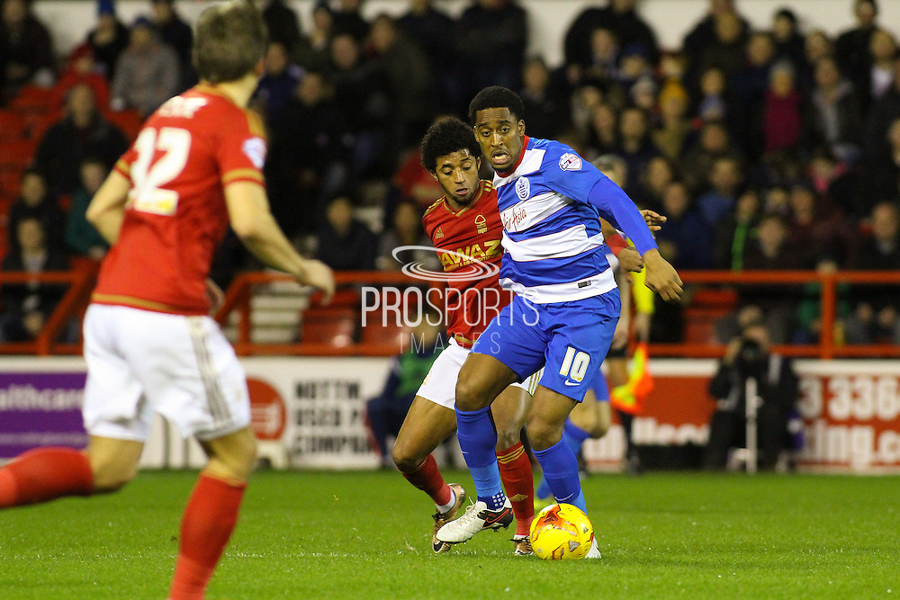 QPR midfielder Leroy Fer wins the ball in midfield during the Sky Bet Championship match between Nottingham Forest and Queens Park Rangers at the City Ground, Nottingham, England on 26 January 2016. Photo by Aaron Lupton.