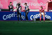 Jules Plisson (Stade Francais) missed to transforme the try of Marvin O Connor (Stade Francais Paris) during the French Championship Top 14 Rugby Union match between Stade Francais and Stade Rochelais, on September 2, 2017 at Jean Bouin stadium in Paris, France - Photo Stephane Allaman / ProSportsImages / DPPI