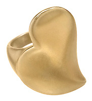 smooth gold heart ring