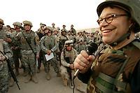 al franken in abu ghrab,dec 20, 05 on uso tour visiting soldiers Al Franken, USO tour