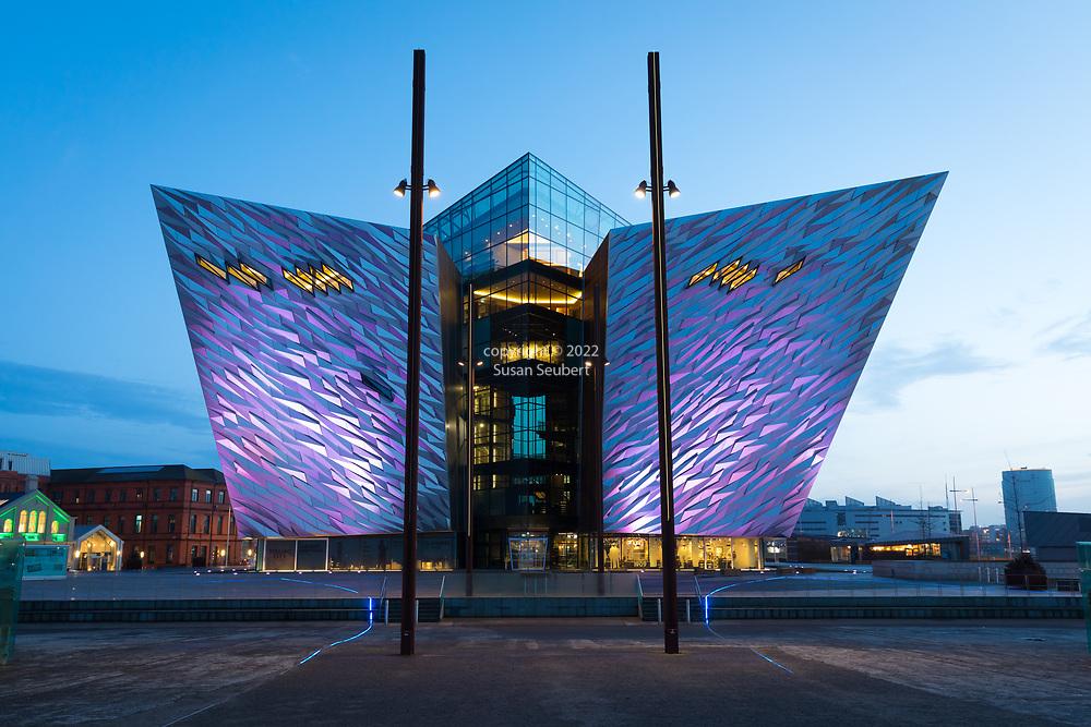The exterior of the Titanic Museum in Belfast, Northern Ireland