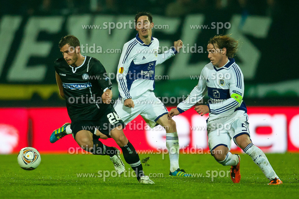 20.10.2011, UPC Arena, Graz, AUT, UEFA Europa League , Sturm Graz vs RSC Anderlecht, im Bild Daniel Beichler, (Sturm, #28), Lucas Biglia, (Anderlecht, #05) // during UEFA Europa League football game between Sturm Graz and RSC Anderlecht at UPC Arena in Graz, Austria on 20/10/2011. EXPA Pictures © 2011, PhotoCredit: EXPA/ M. Kuhnke