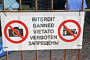 No Photography sign photographed Costa Brava, Catalonia, Spain