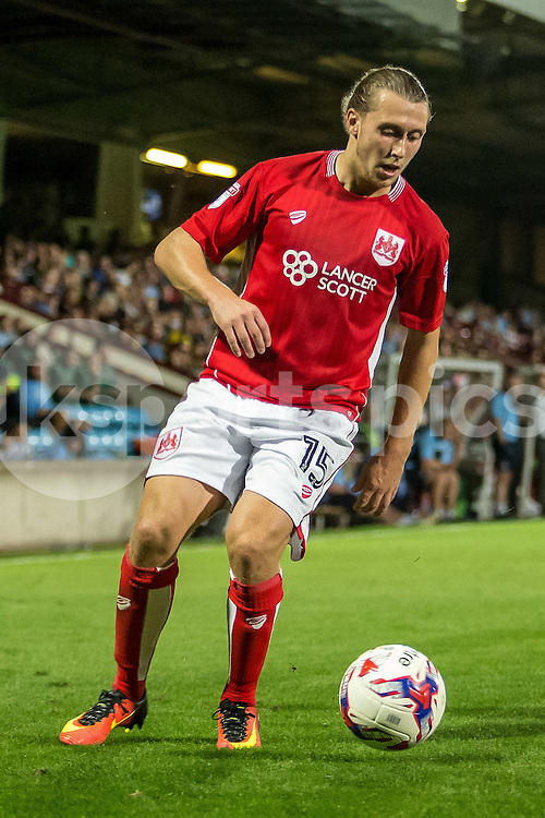 Luke Freeman of Bristol City during the EFL Cup second round match between Scunthorpe United and Bristol City at Glanford Park, Scunthorpe, England on 23 August 2016. Photo by James Williamson.
