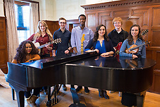 Students Around Piano