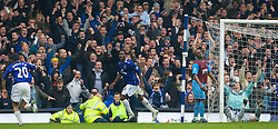 LIVERPOOL, ENGLAND - Sunday, April 27, 2008: Everton's Joseph Yobo celebrates scoring past Aston Villa to make the scores 2-1 during the Premiership match at Goodison Park. (Photo by David Rawcliffe/Propaganda)