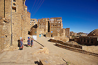 Yemen, région des Hauts Plateaux, Hababa. // Yemen, central mountains, ancient town of Hababa.