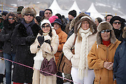 Spectators at White Turf 2011 horse  racing event in St Moritz, Switzerland.