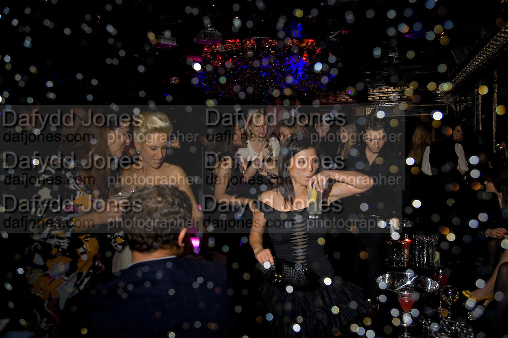 JOANNE LEIGH, Vanessa Miedler birthday party. Dolce. Air St. London. 310108. *** Local Caption *** -DO NOT ARCHIVE-© Copyright Photograph by Dafydd Jones. 248 Clapham Rd. London SW9 0PZ. Tel 0207 820 0771. www.dafjones.com.