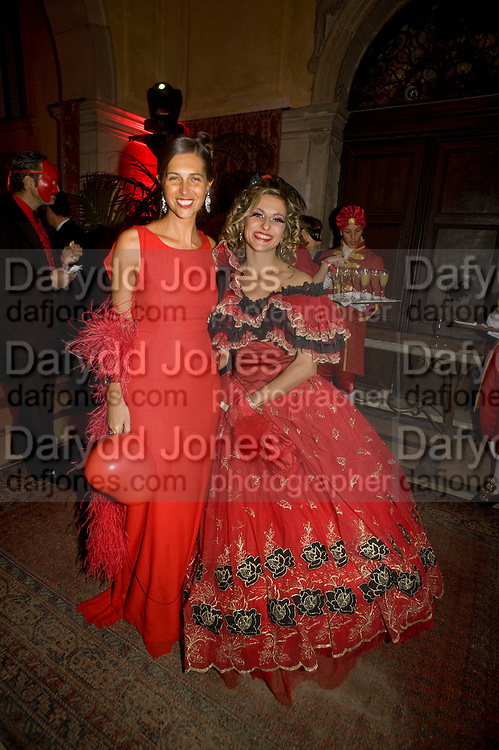 ELENA CALLEGARI; ANNA GASPARINI, Francesca Bortolotto Possati, Alessandro and Olimpia host Carnevale 2009. Venetian Red Passion. Palazzo Mocenigo. Venice. February 14 2009.  *** Local Caption *** -DO NOT ARCHIVE -Copyright Photograph by Dafydd Jones. 248 Clapham Rd. London SW9 0PZ. Tel 0207 820 0771. www.dafjones.com<br /> ELENA CALLEGARI; ANNA GASPARINI, Francesca Bortolotto Possati, Alessandro and Olimpia host Carnevale 2009. Venetian Red Passion. Palazzo Mocenigo. Venice. February 14 2009.