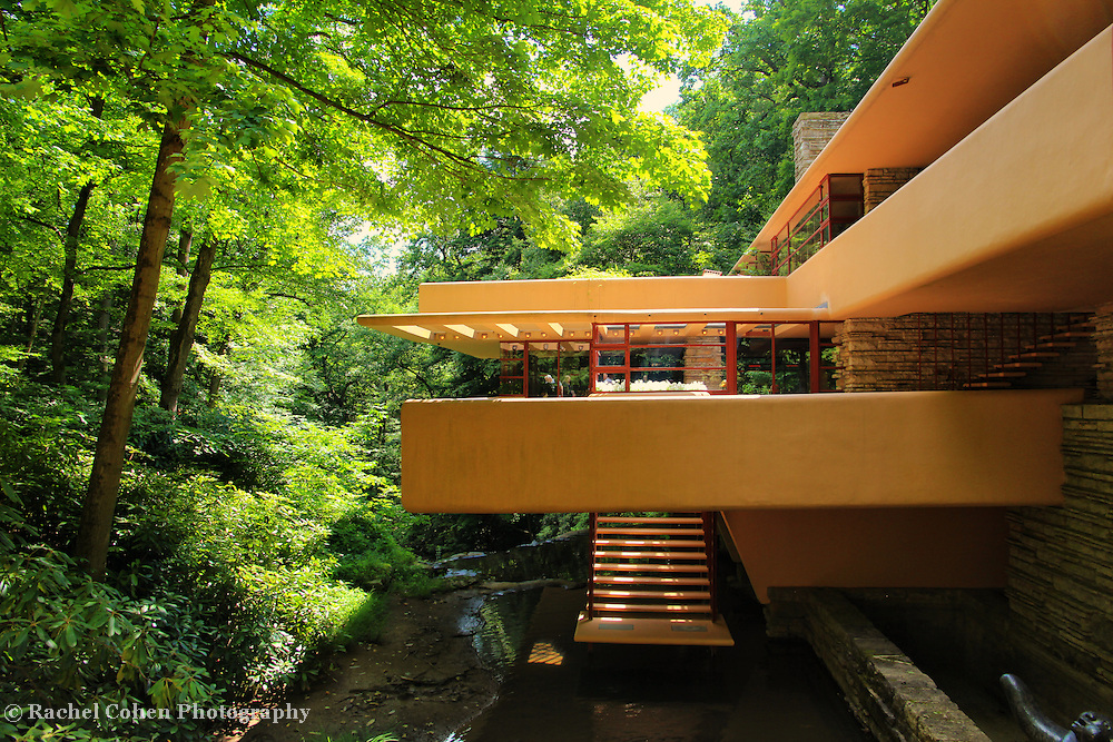 &quot;View of Fallingwater&quot;<br /> <br /> A closeup of one of the sections of Fallingwater in PA.