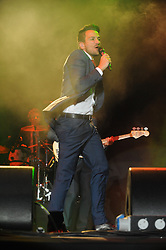 © Licensed to London News Pictures. 16/07/2015<br /> Rochester Castle Concerts,Rochester,Kent<br /> Peter Andre singing<br /> (Byline:Grant Falvey/LNP)