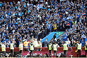 Brighton & Hove Albion fans during the EFL Sky Bet Championship match between Aston Villa and Brighton and Hove Albion at Villa Park, Birmingham, England on 7 May 2017.