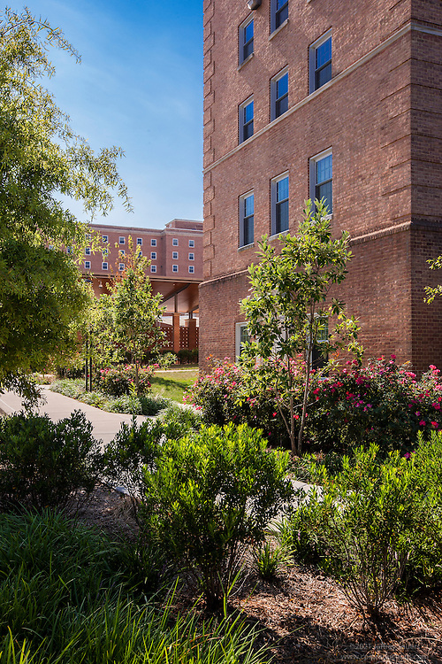 Exterior photo of Landcaping of the Denton Quad at University of Maryland by Jeffrey Sauers of Commercial Photographics