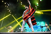 Miguel photographed performing at the Governors Ball Music Festival on Randalls Island in New  York City on June 4, 2016
