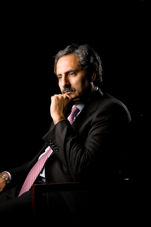 Shahzad Shahbaz, Chief Executive Officer of NBD Investment Bank, poses for a portrait on  Monday, November 4, 2007 in Dubai, United Arab Emirates.