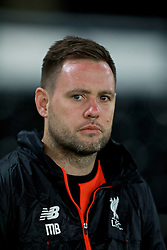 DERBY, ENGLAND - Monday, November 28, 2016: Liverpool's manager Michael Beale before the FA Premier League 2 Under-23 match against Derby County at Pride Park. (Pic by David Rawcliffe/Propaganda)