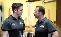 BERLIN - Indoor Hockey World Cup<br /> South Africa - Belgium<br /> foto: Umpires Michael Eilmer and Lee Barron<br /> WORLDSPORTPICS COPYRIGHT FRANK UIJLENBROEK