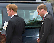 Princes Harry & William Attend Inskip Wedding