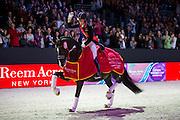 Charlotte Dujardin - Valegro, winner Reem Acra FEI World Cup Final <br /> FEI World Cup Final 2014<br /> &copy; DigiShots