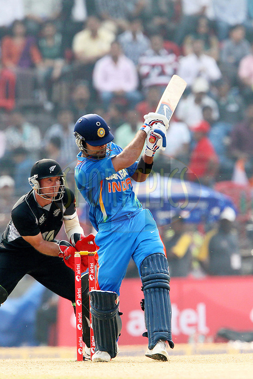 Virat Kholi of India during the 1st ODI (One Day International ) between India and New Zealand held at the Nehru Cricket Stadium in Guwahati, Assam, India on the 28th  November 2010..Photo by Ron Gaunt/BCCI/SPORTZPICS