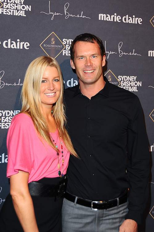 The gala opening of the 2009 Rosemount Sydney Fashion Festival featuring Jayson Brunsdon in Sydney, Australia on August 17, 2009. Photos by Kourosh Azar/Elevation Photos (Pictured: Kylie Speer, Tom Williams)