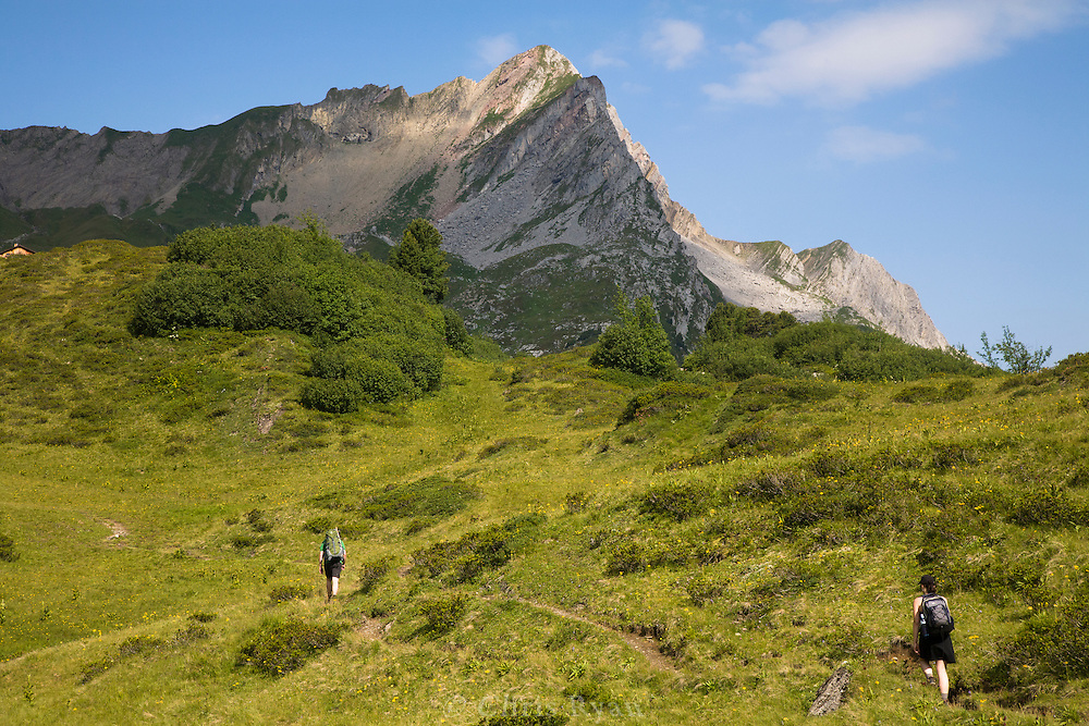 Hut-to-hut hikers in the west Austrian Alps