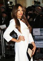 Jade Ewen, Flight UK Film Premiere, Empire Cinema Leicester Square, London UK, 17 January 2013, (Photo by Richard Goldschmidt)