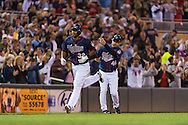 Aaron Hicks #32 of the Minnesota Twins rounds the bases after hitting his 2nd home run of the game against the Chicago White Sox on May 13, 2013 at Target Field in Minneapolis, Minnesota.  The Twins defeated the White Sox 10 to 3.  Photo: Ben Krause