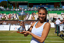 LIVERPOOL, ENGLAND - Sunday, June 24, 2018: Corinna Dentoni (ITA) with the Ladies Singles trophy during day four of the Williams BMW Liverpool International Tennis Tournament 2018 at Aigburth Cricket Club. (Pic by Paul Greenwood/Propaganda)
