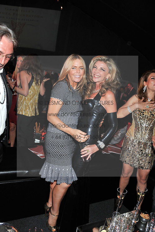Left to right, PATSY KENSIT and CAPRICE BOURRET at the inaugural Gabrielle's Gala in London in aid of Gabrielle's Angel Foundation for Cancer Research held at Battersea Power Station, London on 7th June 2012.