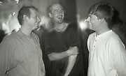 Gary from the Happy Mondays, Graham Massey from 808 State, Hacienda 10th birthday party, Hacienda Club, Manchester, 1992