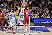 DESCRIZIONE : Campionato 2014/15 Dinamo Banco di Sardegna Sassari - Umana Reyer Venezia<br /> GIOCATORE : Tomas Ress<br /> CATEGORIA : Tiro Tre Punti Three Points Controcampo<br /> SQUADRA : Umana Reyer Venezia<br /> EVENTO : LegaBasket Serie A Beko 2014/2015<br /> GARA : Dinamo Banco di Sardegna Sassari - Umana Reyer Venezia<br /> DATA : 03/05/2015<br /> SPORT : Pallacanestro <br /> AUTORE : Agenzia Ciamillo-Castoria/L.Canu
