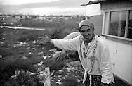 Rome  October 1999.Romani woman of Bosnia, in the Rom's camp  Casilino 700.