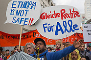 pro refugee protest, Berlin