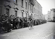 Tour de France coming through a French village 1940s or 50s