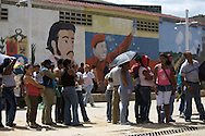 Venezuelan customers buy food and other basic needs at a grocery store called Mercal in the Fabricio Ojeda Nucleus of Endogenous Development. Mission Mercal is a Bolivarian Mission established in Venezuela under the government of Hugo Chavez. Caracas, Oct. 18, 2008 (Photo/Ivan Gonzalez)